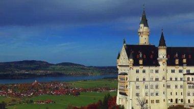 Новый замок Swanstone, замок Нойшванштайн, Бавария, Германия — Стоковое видео