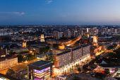 Berlin  Skyline at night — Stock Photo