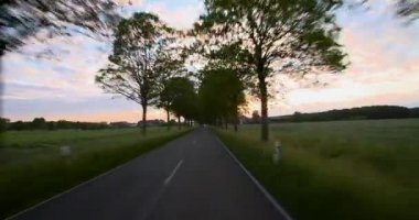 Driving - POV - Road into the Sunset - Part 2 of 7 — Stockvideo