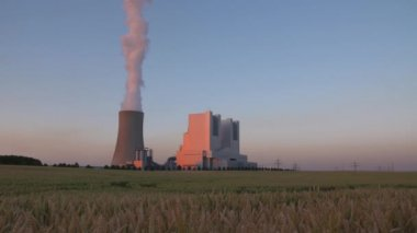 Coal-fired power station — Stock Video