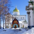 Pochaev lavra.  Trinity Cathedral in winter. — Stock Photo #69560857