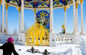 Pochaev lavra.  Flying to god. — Stock Photo