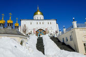 Pochaev lavra.  Trinity Cathedral, side. — Stock Photo