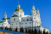 Pochaev lavra. Dormition Cathedral in winter. — Stock Photo