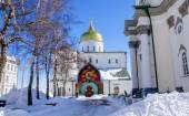 Pochaev lavra.  Trinity Cathedral in winter. — Stock Photo