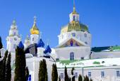 Pochaev lavra. Dormition Cathedral, domes. — Stock Photo