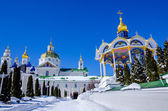 Pochaev lavra.  View from holy gate. — Stock Photo