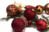 Various christmas tree baubles — Stock Photo