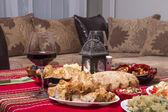 Traditional bulgarian christmas table setup — Stock Photo