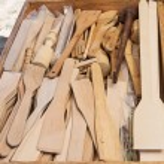 Handcrafted Kitchen Utensils — Stock Photo #74048789