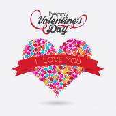 Valentines Day buble hart Design.  — Stock Vector