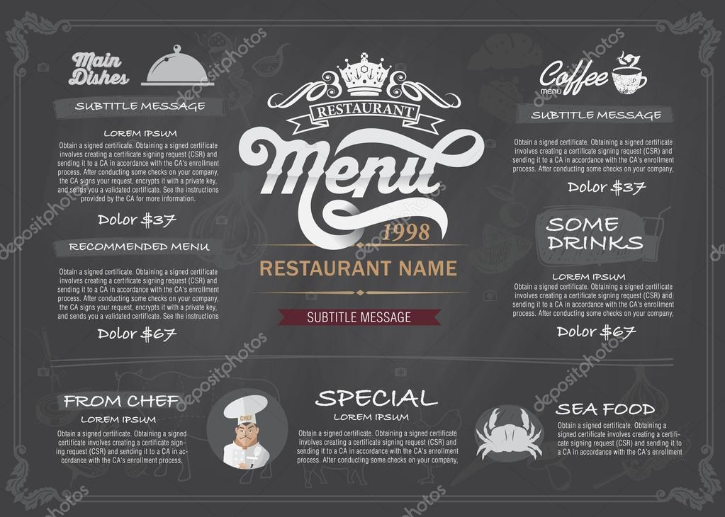 restaurant background template vector free download