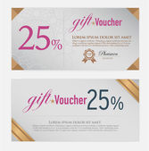 Voucher template with modern vintage pattern. vector — Stock Vector