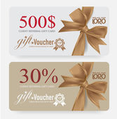 Voucher template with premium vintage pattern. vector — Stock Vector