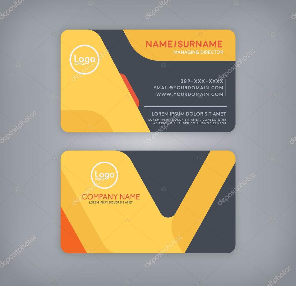Business and name card template. — Stock Vector © PhaisarnWong ...