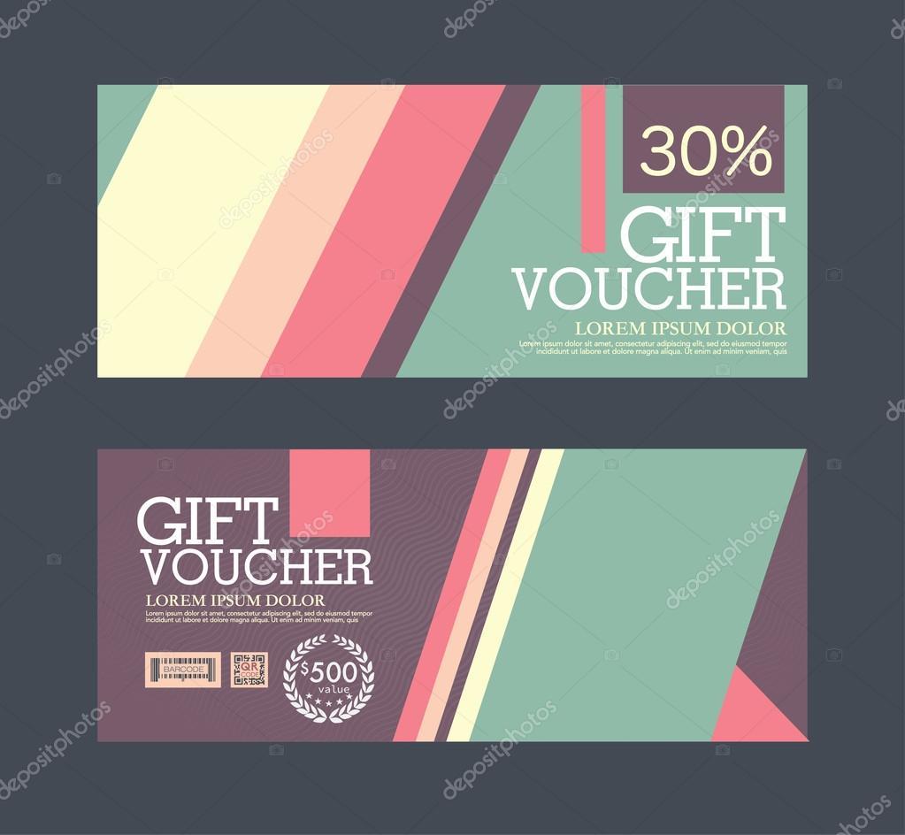 gift voucher template stock vector copy phaisarnwong  gift voucher template and coupon vector by phaisarnwong