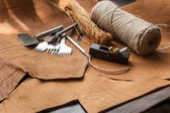 Leathercraft tools — Stock Photo