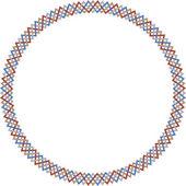Circular weaving colored lines — Stock Vector