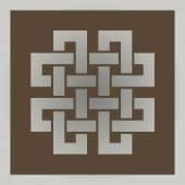 Geometric cross celtic symbol — Stock Vector