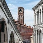 Bell tower of the roman catholic church of San Giovanni Elemosin — Stock Photo #67194031