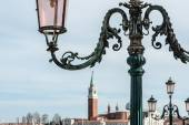 Lampposts on the background of the Church San Giorgio Maggiore — Zdjęcie stockowe