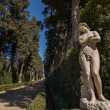 Sculpture of a naked woman in the Cypress Alley, Florence — Stock Photo #67770245