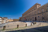 Palazzo Pitti, is a vast mainly Renaissance palace in Florence. — Stock Photo