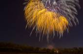 Beautiful firework in honor of the Moscow Victory Day Parade. — Stock Photo