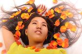 Oriental girl posing in studio — Stock Photo