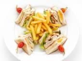 Dishes of international cuisine — Stock Photo