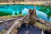 Geyser lake with clear cyan water — Stock Photo