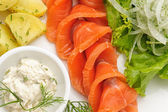 Platos de comida internacional para restaurante — Foto de Stock