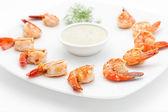 International cuisine dishes for restaurant — Stock Photo