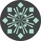 Decorative rosette 9 — 图库矢量图片