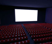 Cinema  with rows of  seats — Stock Photo