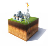 Oil or gas refinery — Stock Photo
