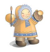Vector illustration siberian child — Stock Vector