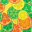 Seamless pattern of oranges, lemons and limes. — Stock Vector #67609371