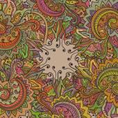 Vektor-Muster für die indische florale Verzierung — Stockvektor