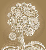 Abstract ornamental magic tree — Vector de stock
