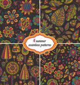 Set of summer backgrounds — Stock Vector