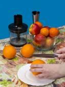 Clean peel   orange. — Stock Photo