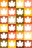 Bright template of maple leaves — Stockvektor