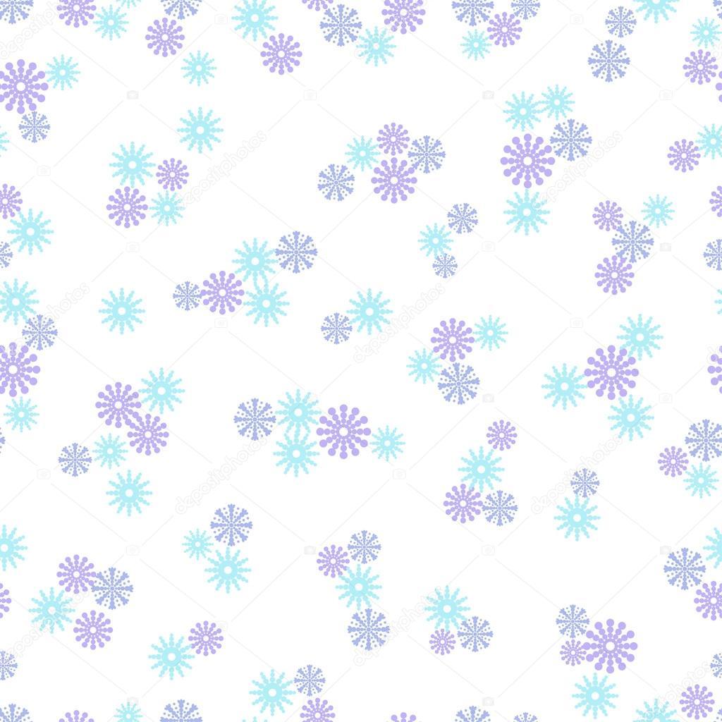 花雪花无缝模式单色背景