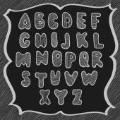 Doodle latin alphabet — Stock Vector