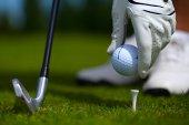 Golf glove ball — Stock Photo