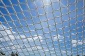Odkazy čisté webové sítě řetěz síťovina Seinu oblohy — Stock fotografie