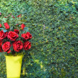 Red rose bouquet for Valentine day — Stock Photo #64384283