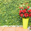 Red rose bouquet for Valentine day — Stock Photo #64387689