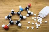 Paracetamol molekylstruktur — Stockfoto